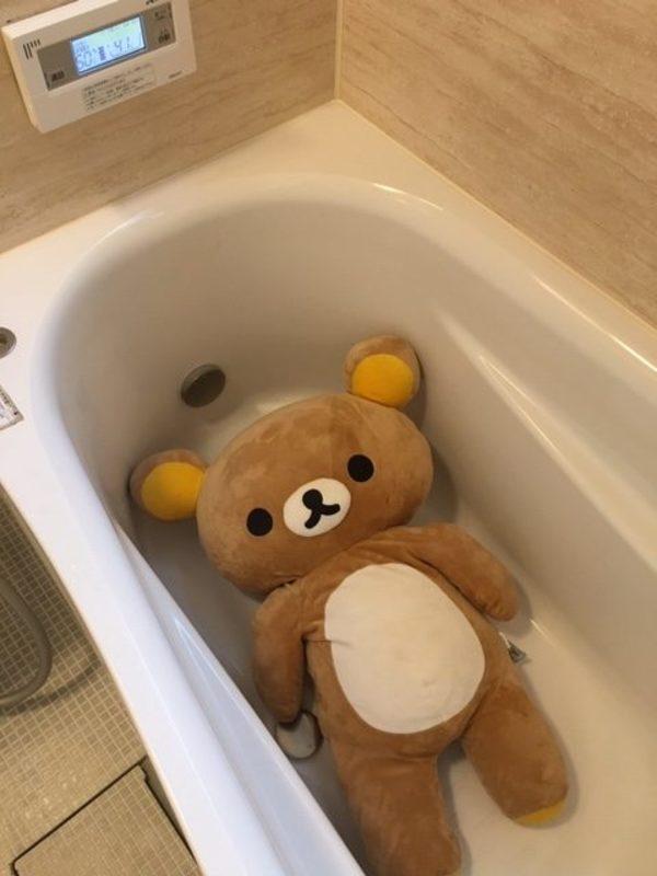 リラックマの入浴?