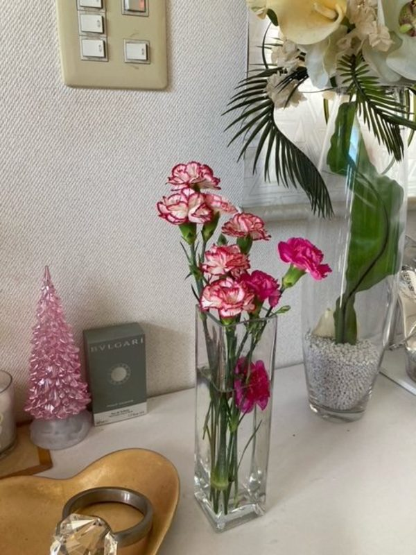 玄関にお花🌸