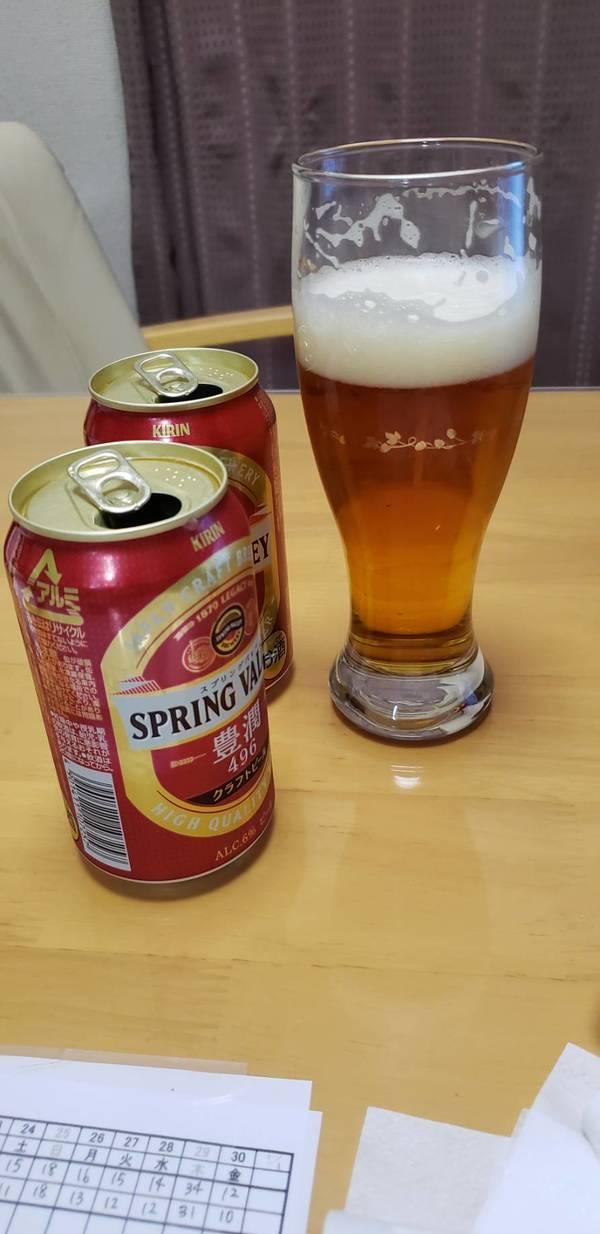 缶ビールで